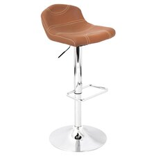 League Adjustable Height Swivel Bar Stool