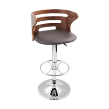 Adjustable Barstool with Cushion