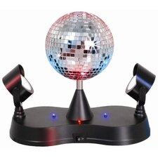 "Novelty Lighting Disco Ball 9.5"" Table Lamp with 2 Mirrors"