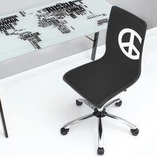 Peace Printed Computer Chair