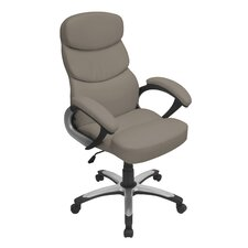 Doctorate High-Back Leatherette Office Chair
