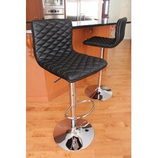 "Caviar 25"" Adjustable Swivel Bar Stool with Cushion"