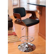 "Fiore 27"" Adjustable Bar Stool with Cushion"