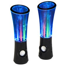 Boom2® Speakers with Sound Responsive Water and Light Show