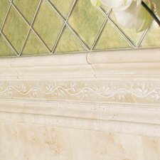 "Brancacci 12"" x 2"" Chair Rail Tile Trim in Aria Ivory"