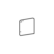 "Brancacci 3"" x 3"" Corner Bullnose Tile Trim in Windrift Beige"