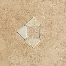 "Brixton 12"" x 9"" Decorative Wall Accent Tile with Insert in Mushroom"