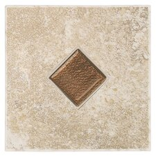 "Castle De Verre 6-7/16"" x 6-7/16"" Decorative Accent Tile in Turret Beige"