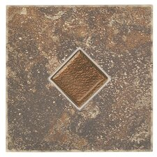 "Castle De Verre 6-7/16"" x 6-7/16"" Decorative Accent Tile in Regal Rouge"