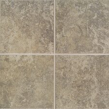 "Castle De Verre 19-3/4"" x 19-3/4"" Floor Field Tile in Grey Stone"