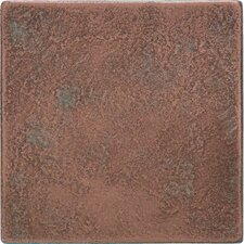 "Castle Metals 4-1/4"" x 4-1/4"" Decorative Wall Tile in Aged Copper"