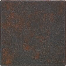 "Castle Metals 4-1/4"" x 4-1/4"" Decorative Wall Tile in Wrought Iron"