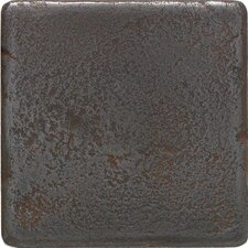 "Castle Metals 4"" x 4"" Decorative Wall Tile in Wrought Iron"