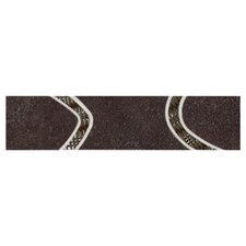 "City View 12"" x 3"" Decorative Accent Tile in Village Café"