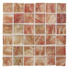 "Elemental Glass 12"" x 12"" Mosaic Tile in Cinnamon Stick"