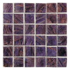 "Elemental Glass 12"" x 12"" Mosaic Tile in Grape Soda"