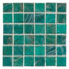 "<strong>Daltile</strong> Elemental Glass 12"" x 12"" Mosaic Tile in Blue Lagoon"