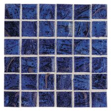 "Elemental Glass 12"" x 12"" Mosaic Tile in Imperial Lapis"
