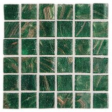 "Elemental Glass 12"" x 12"" Mosaic Tile in Shamrock"