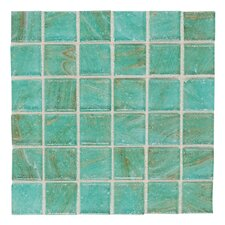 "Elemental Glass 3/4"" x 3/4"" Mosaic Tile in Mint Julep"