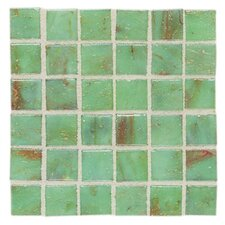 "Elemental Glass 12"" x 12"" Mosaic Tile in Celadon"