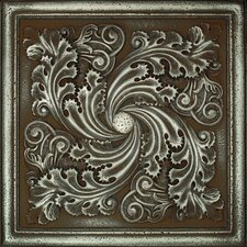 "Metal Signatures Artesia Mural 12"" x 12"" Decorative Tile in Aged Iron"