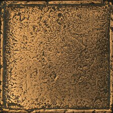 "Metal Signatures Chateau 4-1/4"" x 4-1/4"" Glazed Field Tile in Aged Bronze"