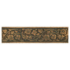 "Metal Signatures Jardin 12"" x 3"" Floor/Wall Border in Aged Bronze"