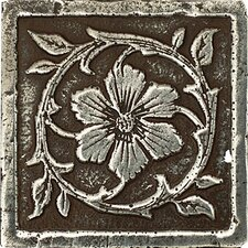 "Metal Signatures Jardin 3"" x 3"" Corner Tile in Aged Iron"