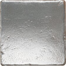 "<strong>Daltile</strong> Metal Signatures Tumbled Stone 4"" x 4"" Field Tile in Aged Iron"