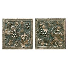"<strong>Daltile</strong> Metal Signatures Trellis 6"" x 6"" Decorative Tile in Aged Bronze (Set of 2)"