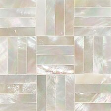 "Ocean Jewels 2"" x 2"" Basketweave Accent Tile in Mother of Pearl"