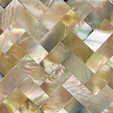 "Ocean Jewels 2"" x 2"" Herringbone Accent Tile in Brown Lip"