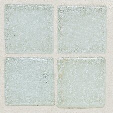 "Sonterra Collection 1"" x 1"" Opalized Mosaic Tile in Ice White"