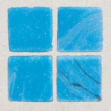 "Sonterra Collection 1"" x 1"" Opalized Mosaic Tile in Cancun Blue"
