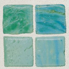 "Sonterra 1"" x 1"" Glass Opalized Mosaic Tile in Verde"
