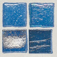 "Sonterra Collection 1"" x 1"" Iridescent Mosaic Tile in Crystal Blue"