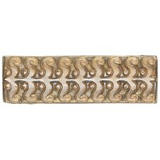 "Cristallo Glass 8"" x 3"" Perennial Decorative Accent in Smoky Topaz"