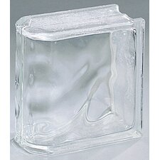 "Glass Block 8"" x 8"" Decora End Block"