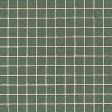 "Maracas Glass 1"" x 1"" Frosted Mosaic Tile in Green Leaf"