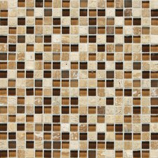 "Stone Radiance 12"" x 12"" Mosaic Tile Blend in Caramel Travertine"