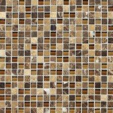 Stone Radiance Mosaic Tile Blend in Butternut Emperador