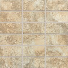 "San Michele 4"" x 2"" Cross - Cut Mosaic Tile in Dorato"