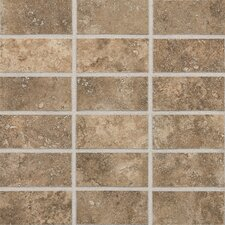 "San Michele 4"" x 2"" Cross - Cut Mosaic Tile in Moka"