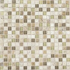 "Stone Radiance 5/8"" x 5/8"" Mosaic Tile Blend in Mushroom / Morning Sun"