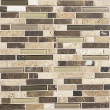 "Stone Radiance 12"" x 12"" Random Mosaic Tile Blend in Morning Sun / Tortoise / Mushroom"