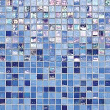 "City Lights 1/2"" x 1/2"" Glass Frosted Mosaic in Capri"