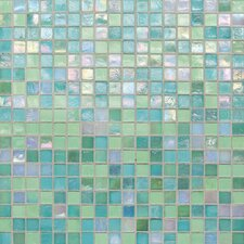"City Lights 1/2"" x 1/2"" Glass Unpolished Mosaic in Blue"