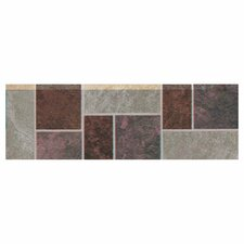 "Continental Slate 12"" x 4"" Decorative Accent in Multi Deco"