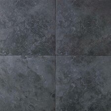 "Continental Slate 18"" x 18"" Field Tile in Asian Black"